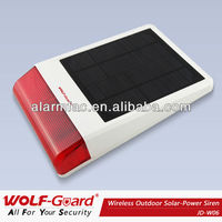 Well waterproof solar strobe outdoor siren for home security guarding