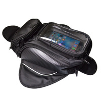 Water Resistant Expandable Motorcycle Tank Bag with Touch Screen Phone Holder