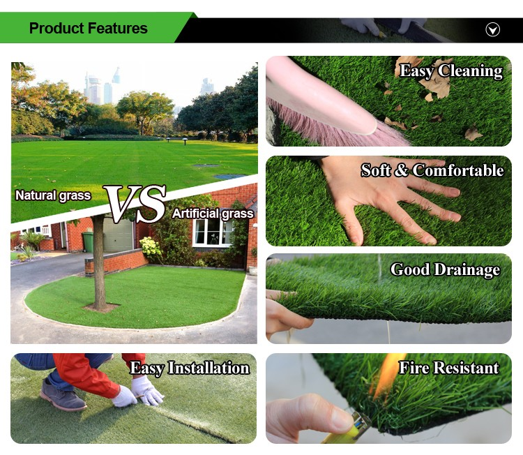 UV resistance landscaping green residential garden fake grass