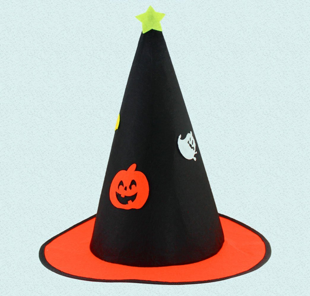 9cefc525c73 Get Quotations · Adult Wizard Costume Hat - Halloween Costume Accessory Cap  - Non-woven Christmas Hat (