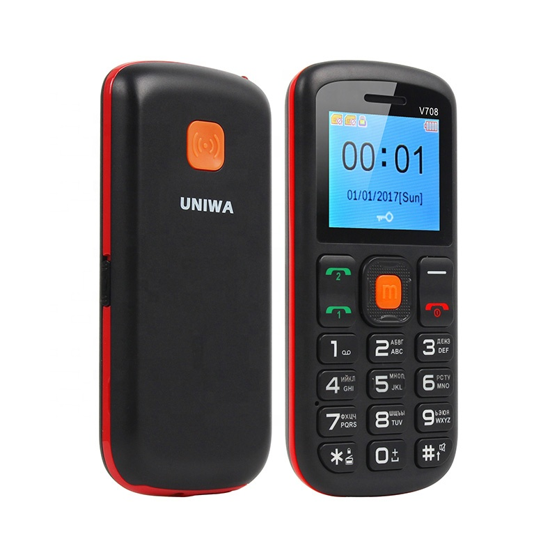 UNIWA V708 Dual SIM Card Big Button SOS Function Senior Phone with Special Charging Cradle