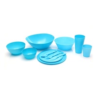 Custom storage container home cups and plates cutlery dinner set reusable plastic picnic dinnerware sets