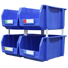 Four Big Size Tool Part Storage Bin Stackable Open Fronted Plastic Box
