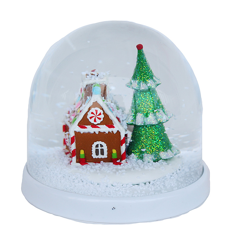 Acrylic Decal Photo Snow Globe With Soft Magnet Durable Plastic Unbreakable Snow Ball Gifts For Kids