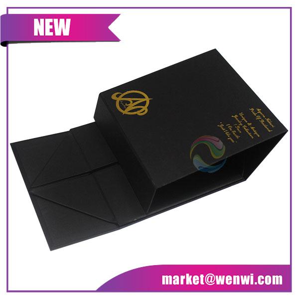 Small Luxury Custom Printing Black Rigid Paper Gift Box Packaging