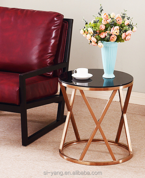Rose Gold End Table With Low Price For Small Accent Carbon Fiber Furniture Coffee Modern Product On Alibaba