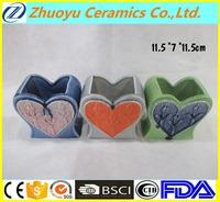 Promotional Happy Valentine Ceramic Valentine decoration