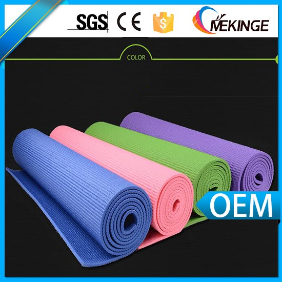 2017 wholesale custom pvc yoga mat manufacturer in resonable and competitive price