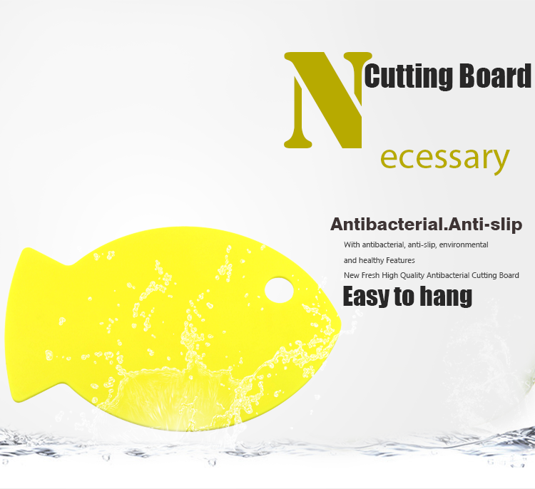 Fish Shape Hand-held Design New Fresh Plastic Chopping Board