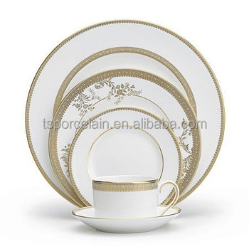 royal gold fine bone china dinner set