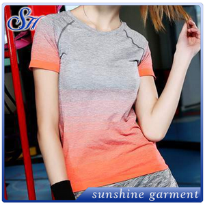 Short-sleeved Summer sporting t-shirts running clothing fitness yoga wear