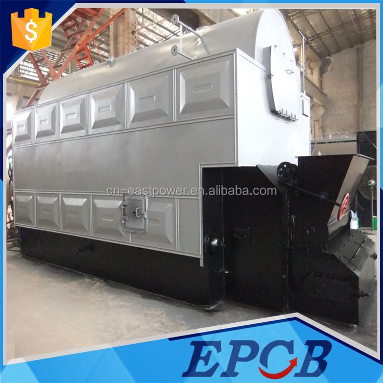 PLC Control DZL Induction Heating Coal, Biomass, Wood Pellet Small Steam Boilers Sale