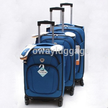 Yiwu stock spinner 4 roues 1680D nylon qualité 3 pcs chariot bagages valise <span class=keywords><strong>ensemble</strong></span>