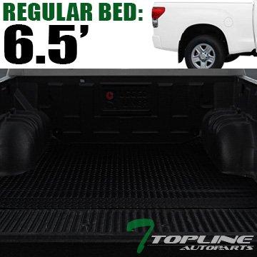 "Topline Autopart Black Rubber Diamond Plate Truck Bed Cargo Box Floor Mat Carpet 07-17 Toyota Tundra 6.5 Ft 78"" Bed"
