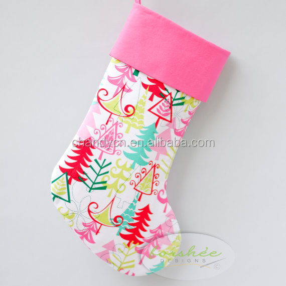 Monogram christmas personalized stocking is perfect for girls and tweens