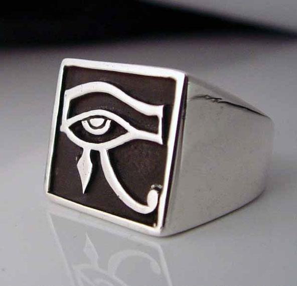 Sterling Silver Mens Udjat Eye Of Horus Ring - Buy Sterling Silver Mens  Udjat Eye Of Horus Ring Product on Alibaba com