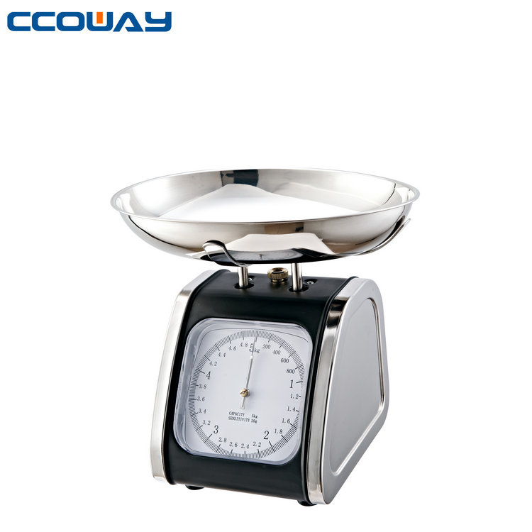 2kg/3kg/5kg Mechanical Kitchen Scales with 201 stainless steel scale tray