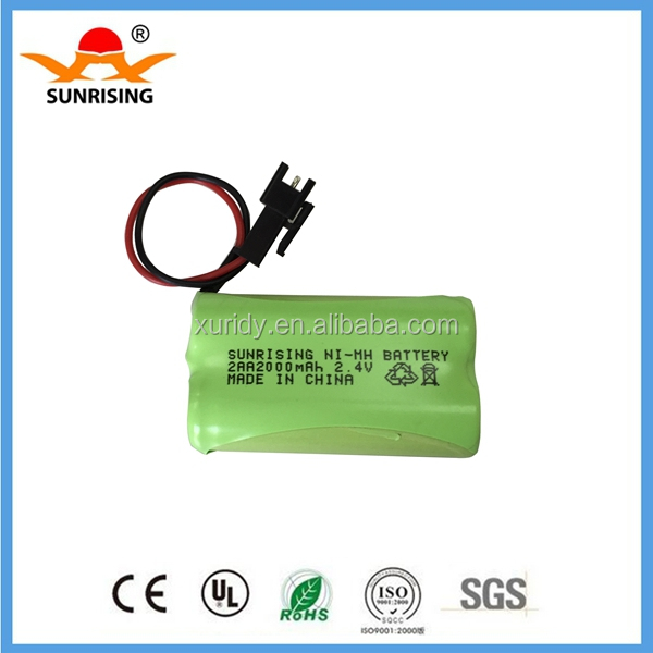 2.4v Nimh AA 2000mah rechargeable battery pack
