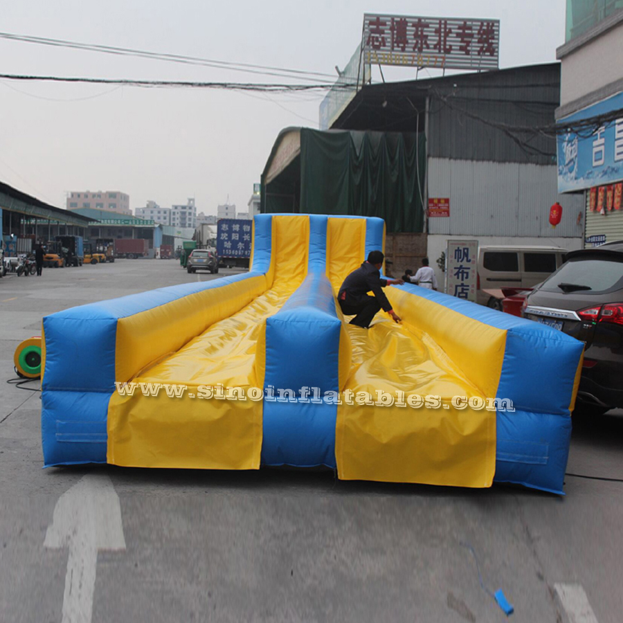 Commercial grade blow up slip and slide for adult inflatable 5k obstacle trainning