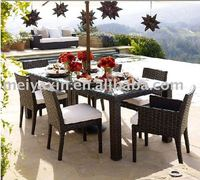 MD-140 patio rattan dinning set patio table and chair patio dinning furniture