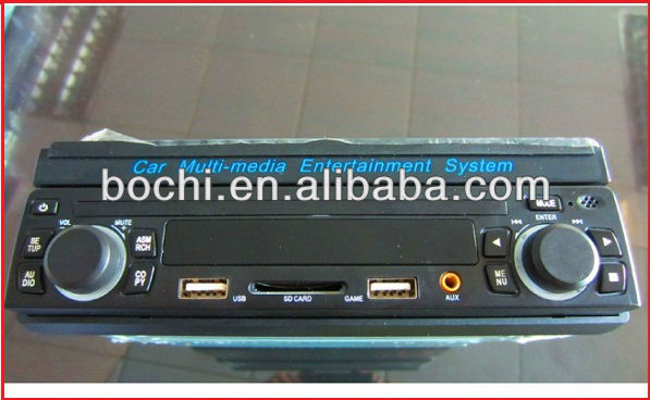 China fábrica melhor venda de 7.5 polegada única din tela de toque do carro dvd player