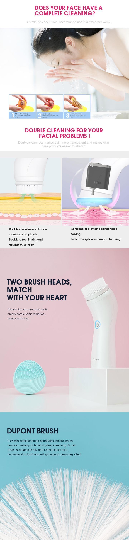 2018 nieuwe producten Waterdichte sonic Facial brush Gezicht Reiniging Borstels
