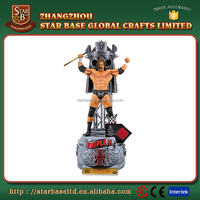 Custom made wholesales decorative resin wrestling figure