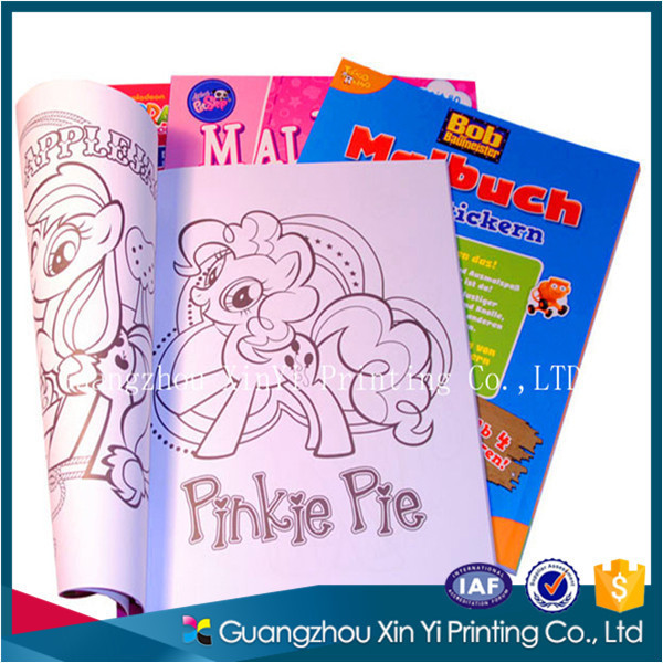 children story book painting with self-adhesive sticker