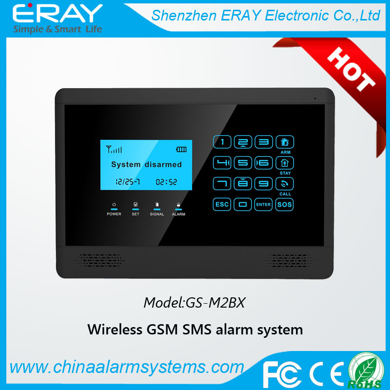 2015 China Manufacturer CE Approved Mobile Call GSM Alarm System with LCD Screen touch Keypad
