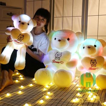Hi Ce Light Up Teddy Bear Plush Toy/led Teddy Bear/cheap Teddy ...