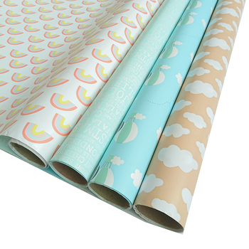 China supplier fancy design custom printed wrapping paper