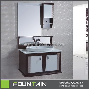 Hangzhou Xiaoshan Round Ceramic Wash Basin Antique Mirror Furniture