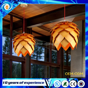 Creative Modern Art Wooden Bamboo Pinecone Pendant Lights lamp
