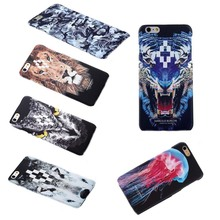 2015 New Fashion marcelo burlon Wolf Owl Snake Designs PVC Hard Phone Case For Iphone6 cell phone iphone6 plus Free Shipping