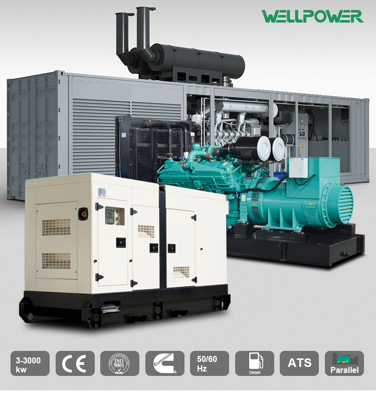 Propan Generator Silent-Power Gen Diesel 50HZ 590KVA Mit Motor 2806C-E18TAG1A2 Made in China
