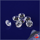 brilliant quality round shape synthetic gemstones 2mm star cut cz