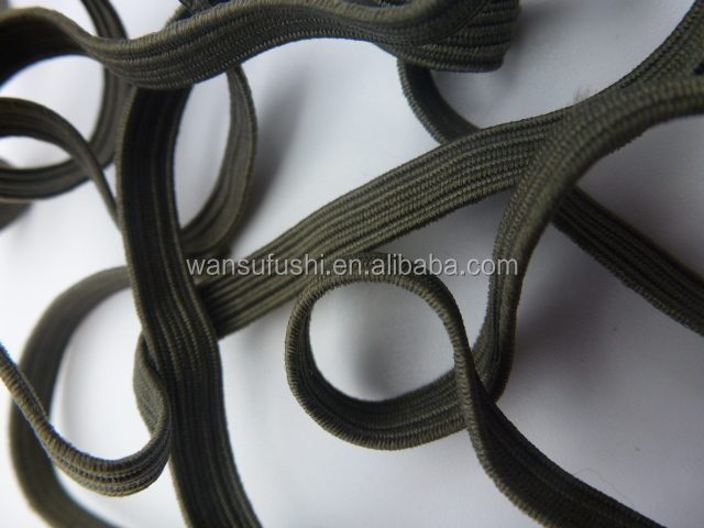 11mm high quality low price elastic flat polyester bungee cord