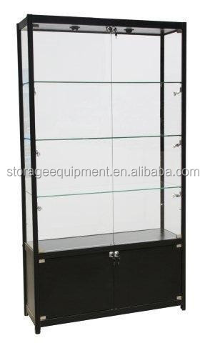 shopping center glass rotating shelf display for museums