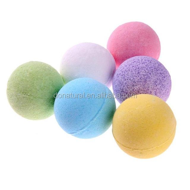 निजी लेबल चमकता हुआ स्नान नमक गेंद स्नान बम