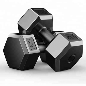 Professional different PVC coated hex dumbbell for fitness