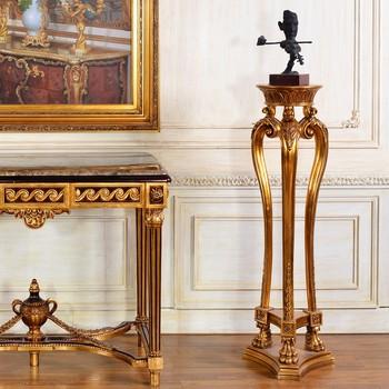 C67 Classic Interior Home Decoration Roman Pillar Tall Gold Flower Stand  Wholesales