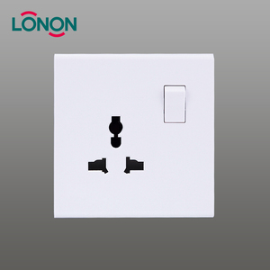 Electrical 3 pin universal multi-function socket outlet