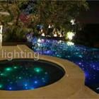120W LED superbright shooting star multicolor mixed changing fiber optic underground swimming pool starry light