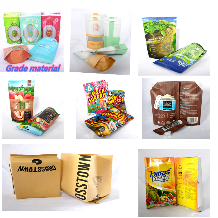 High Quality Heat Seal Zip Lock Package Bags Aluminum Foil Mylar Tear Notch Matte Black Stand Up Bag Wholesale
