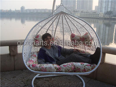 Wholesale Outdoor Hanging Egg Chair Rattan Double Hanging