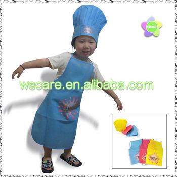 Kid Mini Size Junior Cappello da Cuoco Grembiule Set Non Tessuto Bambini Grembiule  e Chef 4821d8bed743