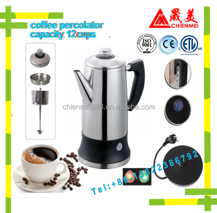 12 cup stainless steel filter russian geyser coffee maker