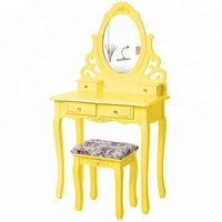 2016 best seller popular high quality OEM Wooden Makeup vanity table Dressing Table with stool from suppliers china customizable