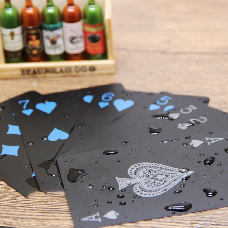 Пользовательские печатные покерные 100% пластиковые игральные карты Oem