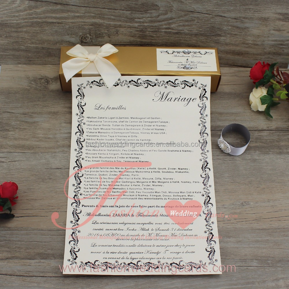 Fantastic Scroll Wedding Invitations Usa Photo - Invitations Design ...